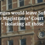 Image of BSE Magistrates Court with quote