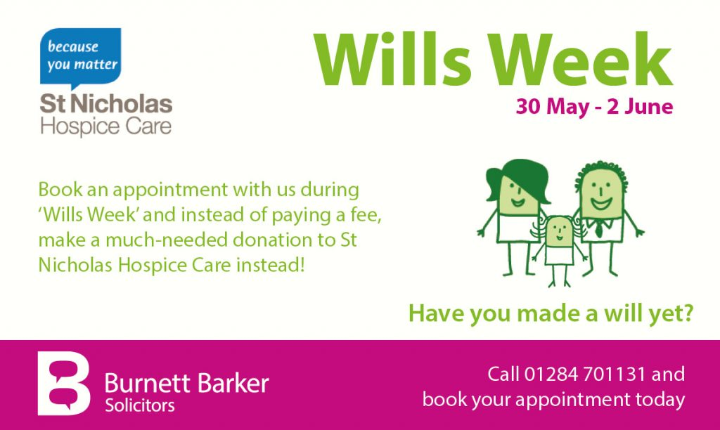 Make a will during Wills Week 2017