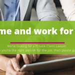 Recruiting for a private client lawyer