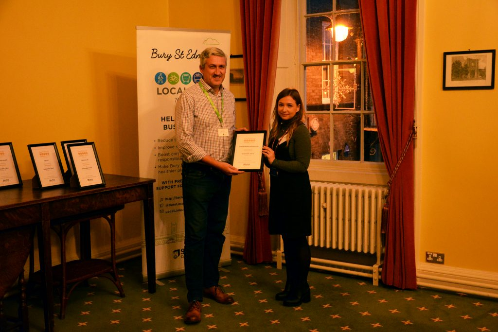 Winning a gold award for sustainable travel initiatives