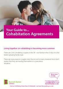 cohabitation factsheet